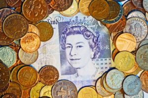 England Geld wechseln in euro